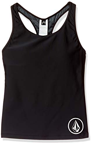 Volcom Damen Junior's Simply Solid Racerback Swimsuit Tankini Top Bikini, schwarz, X-Small