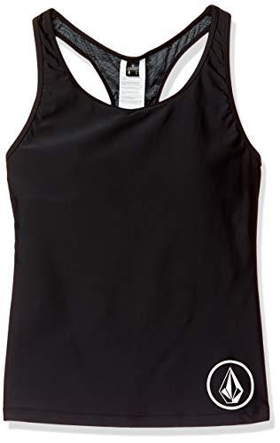 Volcom Damen Junior's Simply Solid Racerback Swimsuit Tankini Top Bikinioberteil, schwarz, Small