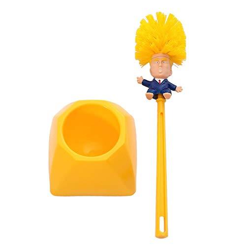 ghfcffdghrdshdfh Creative Trump toiletborstel kunststof, creatieve toiletborstelgarnituur