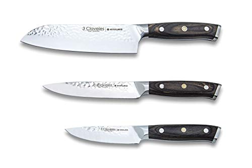 Juego de cuchillos de cocina profesional 3 Claveles Kimura Cuchillo de cocina multiusos menaje de cocina acero inoxidable set de utensilios cocina
