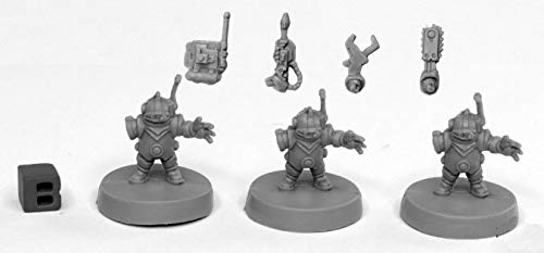 Pechetruite 3 x TOOLBOTS - Reaper Bones miniature role playing and war game - 49002