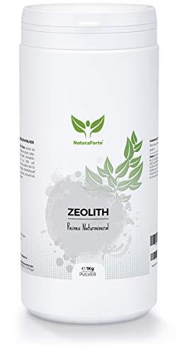 NaturaForte Zeolith Pulver 1000g - Klinoptilolith 95%, Vulkanerde extra fein gemahlen in Premium Qualität, ohne Zusätze, Reines & naturbelassenes Vulkangestein, geprüft & kontrolliert in Deutschland