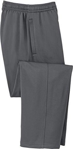 DRIEQUIP Men's Moisture Wicking Athletic Sweatpants with Pockets in Sizes XS - 4XL Dark Smoke Grey