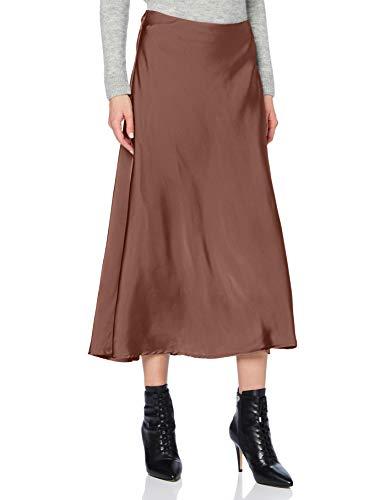 Herrlicher Damen Antonie Skirt Satin Rock, Rouge 354, XS