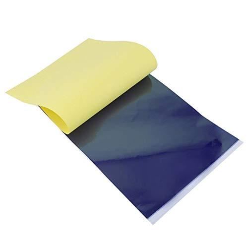 4 capas de carbono Plantilla térmica Papel de transferencia de tatuajes Papel de copia Papel de trazado Accesorios profesionales para tatuajes (color: amarillo y negro)