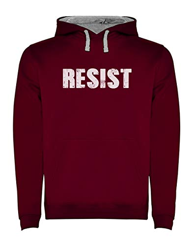 Green Turtle T-Shirts Resist Political Anti Protest - Protestation Politique Sweatshirt Capuche Homme XX-Large Bordeaux