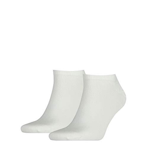Tommy Hilfiger Sneaker - Lot de 2, pairs de Chaussettes - Homme Blanc (White) - FR: 43-46 (Taille fabricant: 43/46)