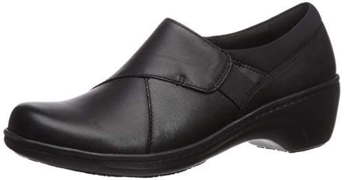 Clarks Women's Grasp High Loafer, Black Leather, 65 M US