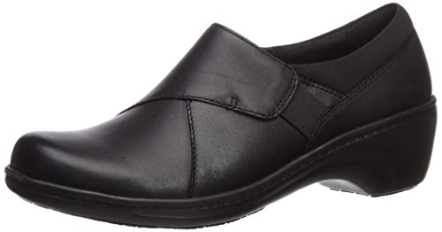 Clarks Women's Grasp High Loafer, Black Leather, 65 W US