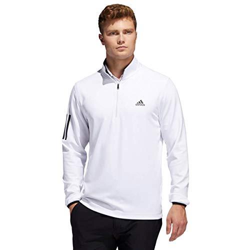 adidas Golf 3-Stripes Midweight Layering Sweatshirt Training Mens Golf Sweater White XXL