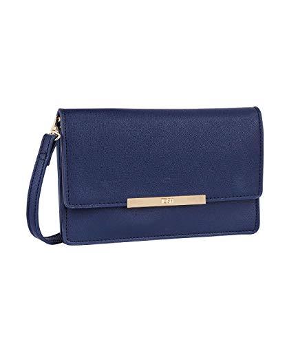 TOSH Tasche - Damen Handtasche, Umhängetasche, Portemonnaie, Cross Body, Multifunktion, verstellbare Schulterriemen, Navy blau (734-098)