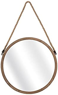 IMAX 65291 Rally Wood Mirror - Nautically Themed Wall Mirror for Livingroom, Outdoor Spaces and Bathroom. Home Decor Accessories