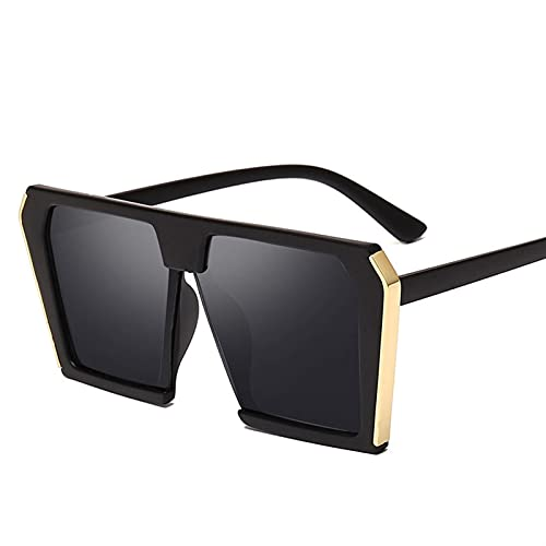QSLS 1 pc Vintage Grandes Gafas de Sol cuadradas Mujeres de Gran tamaño 90s Moda Ojo Ojo Gafas de Sol Mujer Dama Sombras UV400 (Lenses Color : 2)
