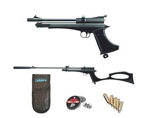 Outletdelocio.. Pack Pistola-Escopeta de Aire comprimido Stinger Arma de CO2 y balines (perdigones de Plomo Cal. 5.5mm)