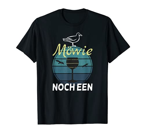 Möwie noch een? Lustiges Norden Norddeutsch Plattdeutsch T-Shirt
