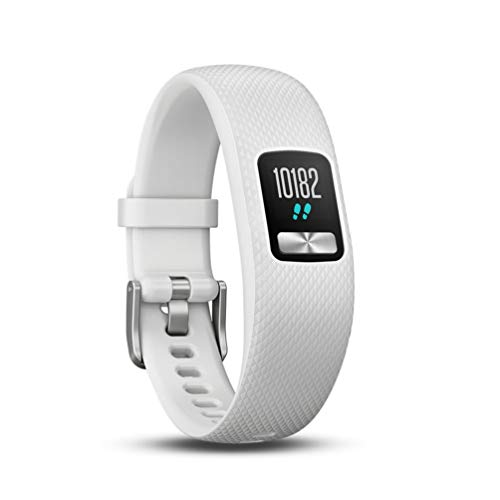 Garmin vívofit 4 Fitness Tracker, personalisierbares Farbdisplay, schlankes Design, bis zu 1 Jahr Batterielaufzeit , weiß , Small/Medium
