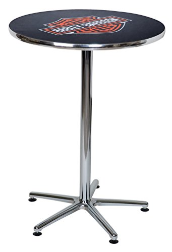Harley-Davidson Bar & Shield Logo Round Cafe Table, Durable & Chrome HDL-12314
