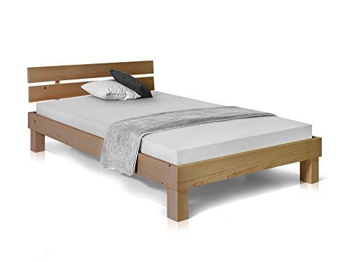 Massivholzbett Pumba Holzbett Doppelbett, Material Massivholz, Made in Germany, 90x200 cm, eichefarbig