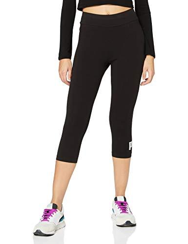 PUMA Ess 3/4 Logo Leggings Leggins, Donna, Cotton Black, XS
