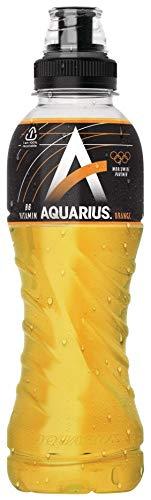 12 x Aquarius Orange PET-Flaschen (12 x 0,5 L) EINWEG inkl. gratis FiveStar Kugelschreiber
