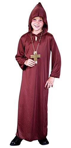 Foxxeo Mönchkostüm für Jungen Mönch Kostüm für Kinder Größe 146-152