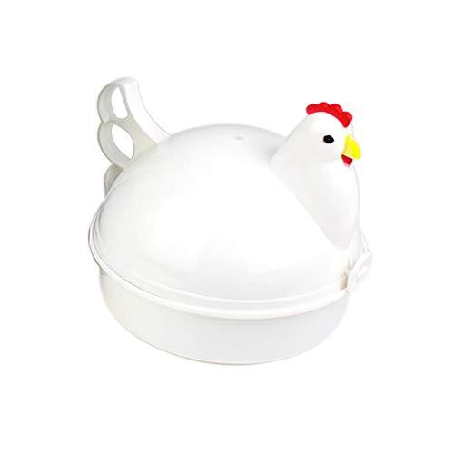 TOPofly Eierkocher Huhn formte Dampfer Mikrowelle Neuheit-Hauptküchengeräte Eierkocher für 4 Eier