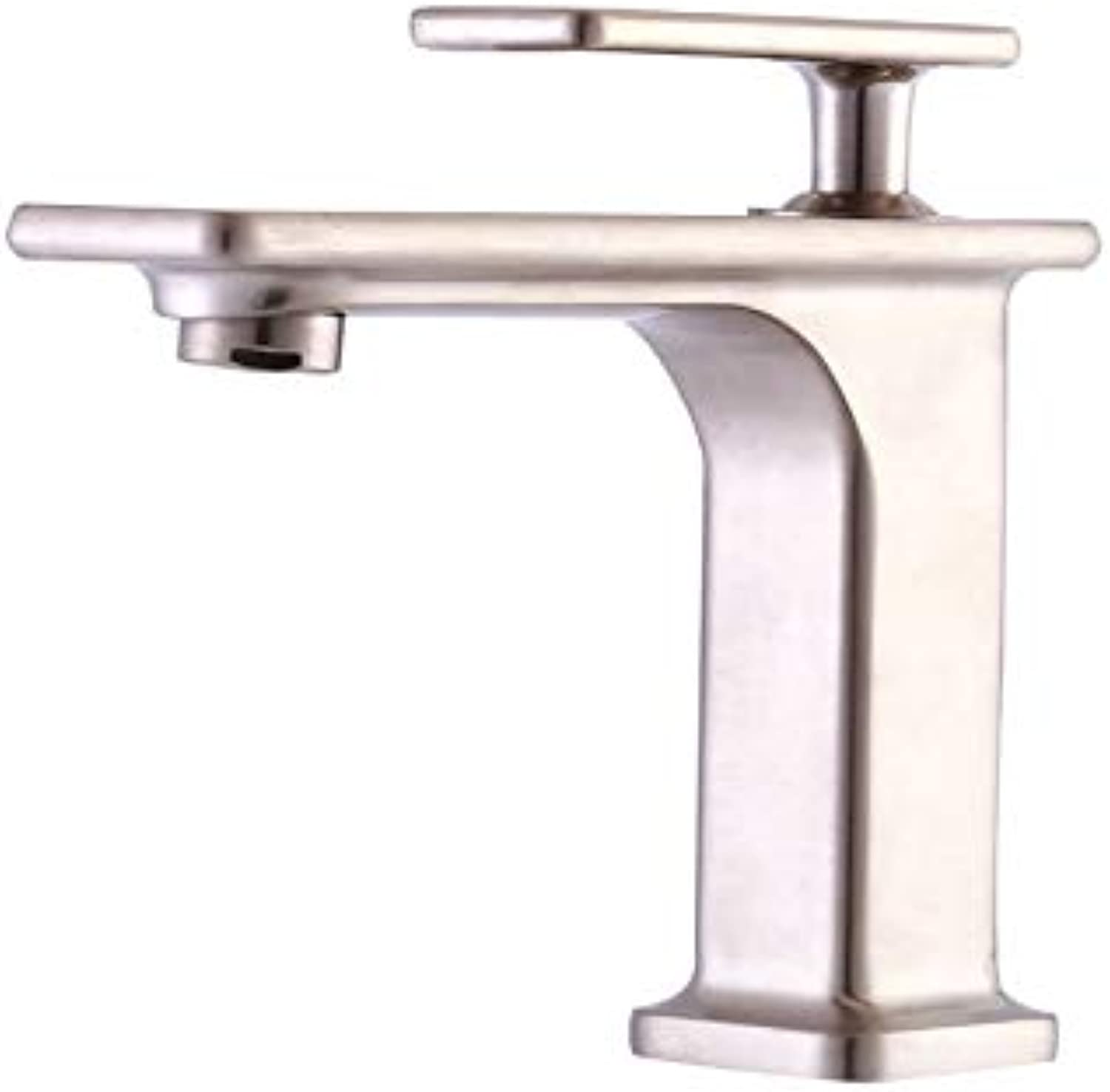 Bathroom Sink Basin Lever Mixer Tap Cold and Hot Water Faucets Mixed Faucets Lead-Free Copper Basin Faucets Hot and Cold