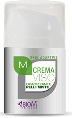 BioM Integra - Crema VISO OPACIZZANTE PELLI MISTE reguliert die Trockenheit von Sebo, mit natürlichen BARDANA und LUPPOLO, BIOSSIDO TITANIC und ORYZANOL. 50 ml