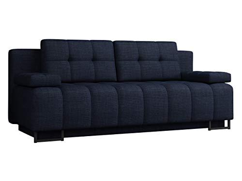 Schlafsofa Terkaz mit Bettkasten, Polstersofa, Couch, Bettsofa, Sofa mit Schlaffunktion, Metallfüße, Bettfunktion, Couchgarnitur (Lux 34)