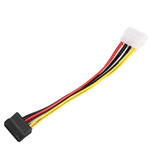 Cable adaptador de alimentación IDE Molex de 4 pines a 2 de 15 pines Serial ATA SATA HDD Cable ligero divisor de disco duro dual, 10 unidades