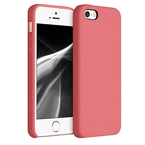 kwmobile Cover Compatibile con Apple iPhone SE (1.Gen 2016)   5   5S - Cover Custodia in Silicone TPU - Back Case Protezione Cellulare Rosa Pompelmo