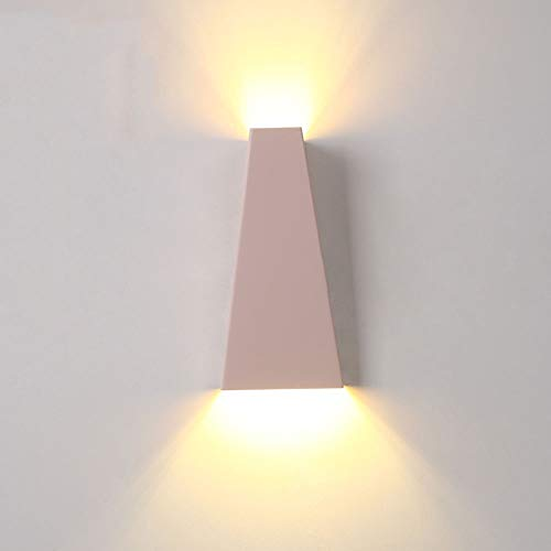 ZSAIMD LED lampe intérieure table Moderne Mode Simple Balcon Chambre Étude Corridor Allée Chevet Applique (Color : Pink warm light)