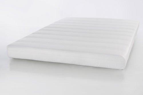 lifestyle4living Matratze, Federkernmatratze,weiß, Maße: 140 x 200 cm, Härtegrad 2,