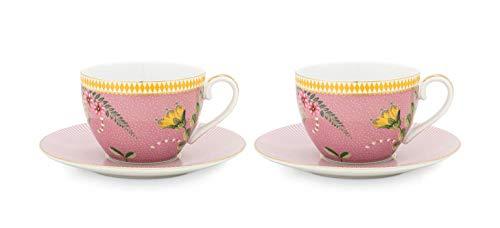 PIP Porzellanserie La Majorelle pink - tablewear collection PIP verschiedene Artikel Artikelvariante Espresso Tasse/Teller im 2er-Set