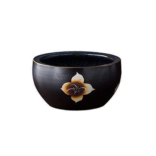 Maceteros Exterior Pote de cerámica Pote al aire libre Jardín Hogar Sala de estar Dormitorio Oficina Comedor Decoración Flor Pot 5 Tamaños para elegir Maceteros Decorativos Interior ( Size : A )