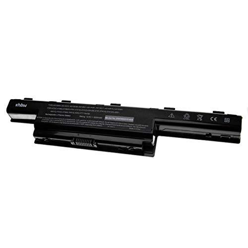 vhbw Akku passend für Acer Travelmate 8572, 8573, P243, P453, TM5740, TM5742 Notebook (5200mAh, 10.8V, Li-Polymer, schwarz)