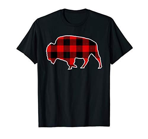 Bison Red Buffalo Plaid Yak Animal Matching PJ Family Gift T-Shirt