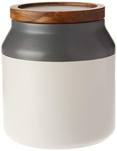 Jamie Oliver Vorratsdose mit Holzdeckel, keramik, grau, Größe S