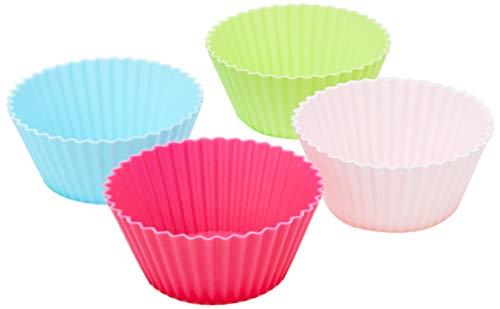 Jogo de Formas para Muffins Redondo com 12 Peças Mimo Style Multicor