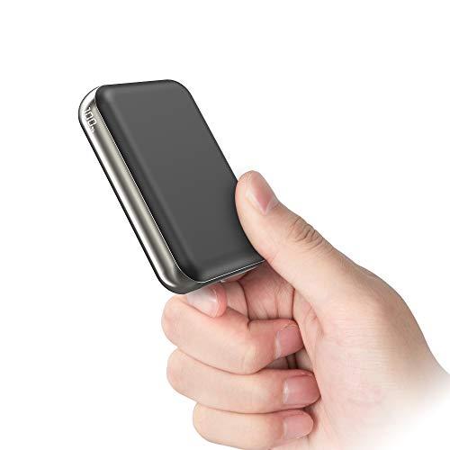 Powerbank 10000 mAh,【PD22.5W Schnellladung】 Klein Externer Akku mit 5A DREI-Ausgänge USB C Mini Power Bank mit LED Anzeige für Handy, iPhone 12,Samsung, Huawei, Xiaomi, iPad, Tablet usw【Schwarz】