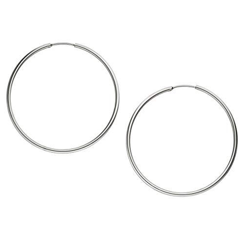 PURELEI® Creolen Ohrringe Damen (50mm) Silber Schmuck