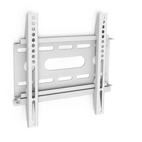 Hama TV-Wandhalterung (für Fernseher von 19 bis 37 Zoll (48 cm bis 94 cm Bildschirmdiagonale), inkl. Fischer Dübel, VESA bis 200 x 200, Wandabstand nur 2,2 cm, max. 25 kg) weiß
