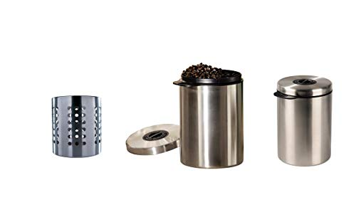 I IKEA Ordning – Besteck Ständer, Edelstahl + Xavax Kaffeedose, Silber, 1 kg