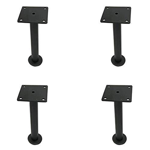 4x Möbelstützbeine, Edelstahlmaterial Höhenverstellbare Erhöhung Geeignet für Sofaschränke und andere Möbel/Schwarz / 210mm