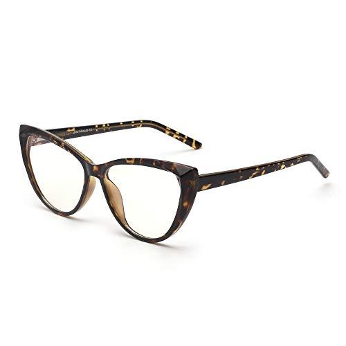 JIM HALO Cat Eye Blue Light Blocking Glasses Fashion for Women Spring Hinge...