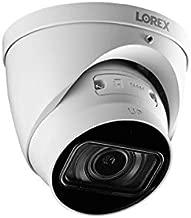Lorex LNE9292B Indoor/Outdoor 4K Ultra HD Nocturnal Smart IP Motorized Dome Camera, 4X Optical Zoom, 30FPS, Audio, 150ft IR Night Vision, CNV, IP67, Works with N881B/N882B Series, White, 1 PK