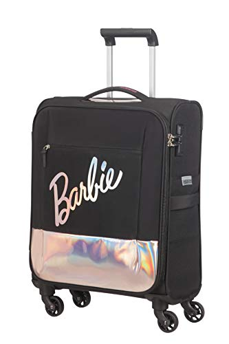 American Tourister Modern Glow Barbie - Soft Spinner S, Schwarz (Shimmer Power Barbie)