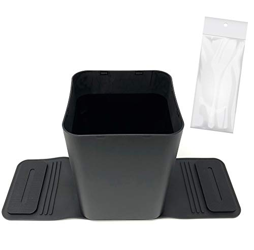 Car Trash Can Bin Waste Container Plastic with 20 Free Disposable Bags. 100% Leak Proof Car Organizer.