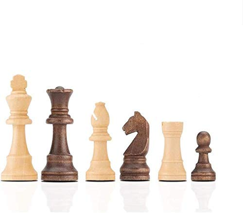 Chess set Game travel adults kids board Chess Wooden Chess Pieces 3.25' King,Set of Complete Wooden Chess Pieces DOC36