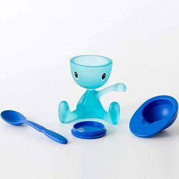 color azul Huevera con cucharilla Alessi ASG23 AZ Cico